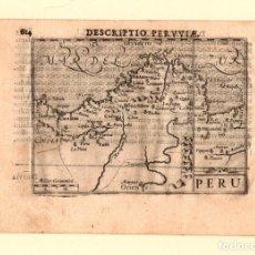 Arte: MAPA DESCRIPTIO PERUVIAE. PERU. SIGLO XVII. Lote 178200747