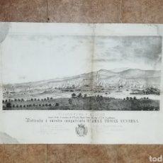 Arte: LITOGRAFIA MAPA PLANO VILLANUEVA Y GELTRÚ 1851 ALEGRET REUS. Lote 178774148