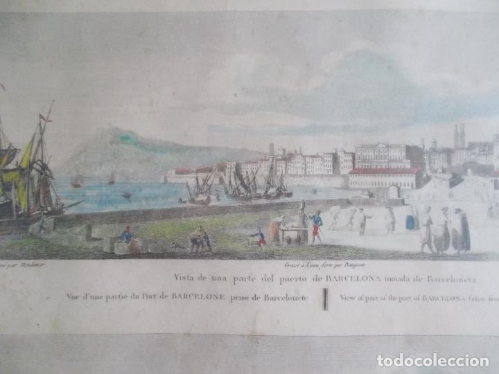 Arte: TRES ANTIGUAS VISTAS DE BARCELONA TOCADAS A MANO MUY ANTIGUAS FIRMADAS CON AUTORES DE EPOCA - Foto 5 - 179069526
