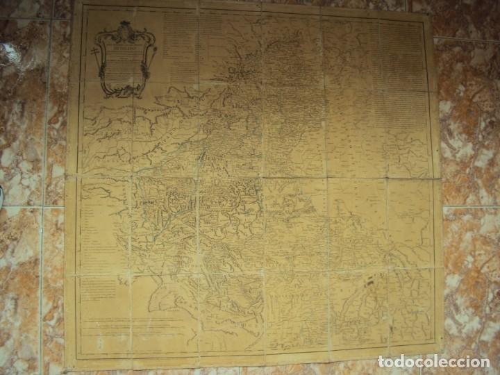 (PA-191008)MAPA EN TELA ARZOBISPADO DE TOLEDO ARQUEOLOGIA ESCUDO CARDENAL LORENZANA TOMAS LOPEZ 1792 (Arte - Cartografía Antigua (hasta S. XIX))
