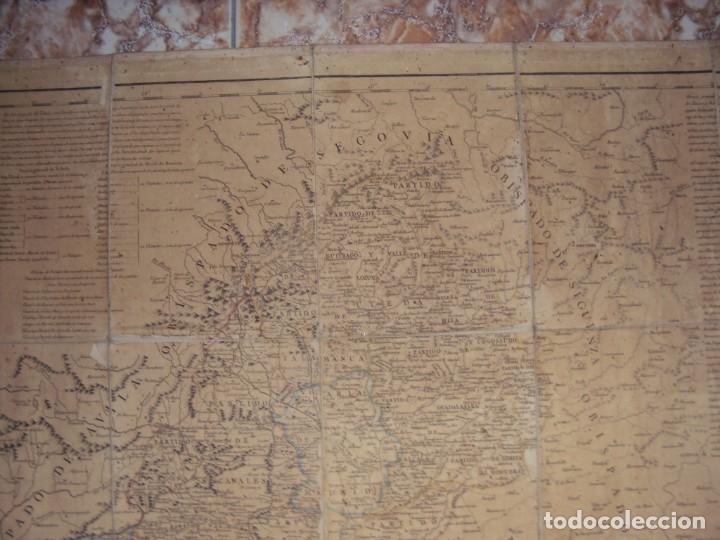 Arte: (PA-191008)Mapa en tela Arzobispado de Toledo Arqueologia escudo Cardenal Lorenzana Tomas Lopez 1792 - Foto 3 - 179189590
