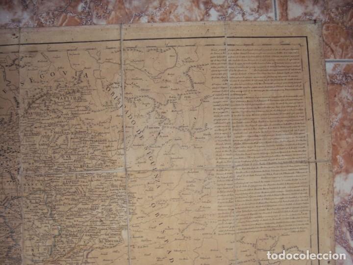 Arte: (PA-191008)Mapa en tela Arzobispado de Toledo Arqueologia escudo Cardenal Lorenzana Tomas Lopez 1792 - Foto 4 - 179189590
