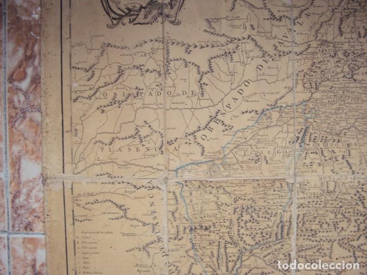 Arte: (PA-191008)Mapa en tela Arzobispado de Toledo Arqueologia escudo Cardenal Lorenzana Tomas Lopez 1792 - Foto 5 - 179189590