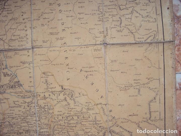 Arte: (PA-191008)Mapa en tela Arzobispado de Toledo Arqueologia escudo Cardenal Lorenzana Tomas Lopez 1792 - Foto 7 - 179189590