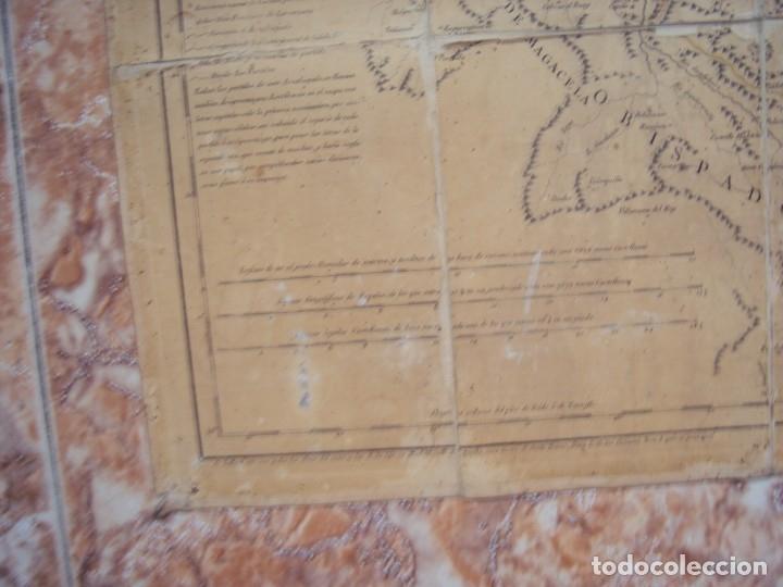 Arte: (PA-191008)Mapa en tela Arzobispado de Toledo Arqueologia escudo Cardenal Lorenzana Tomas Lopez 1792 - Foto 8 - 179189590