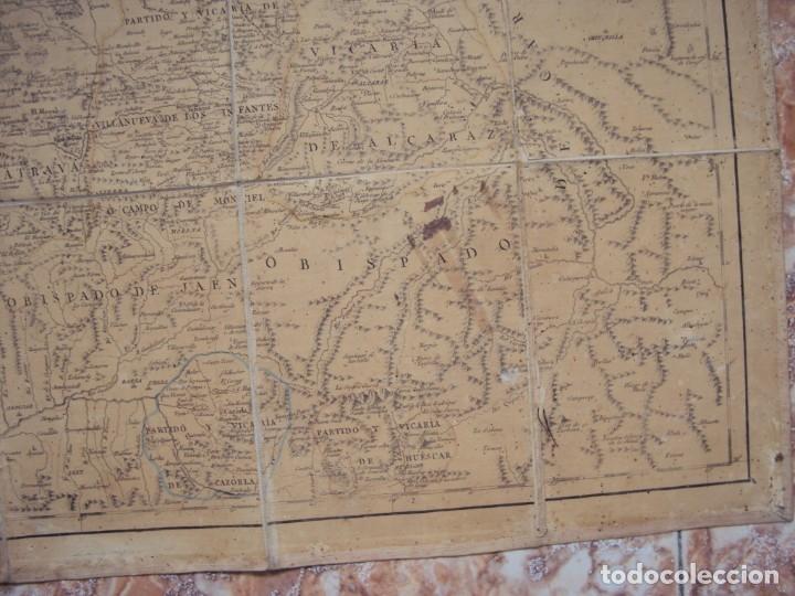 Arte: (PA-191008)Mapa en tela Arzobispado de Toledo Arqueologia escudo Cardenal Lorenzana Tomas Lopez 1792 - Foto 10 - 179189590