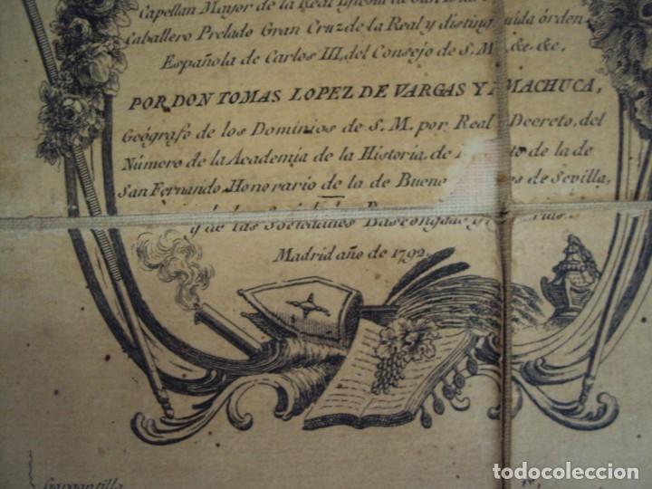Arte: (PA-191008)Mapa en tela Arzobispado de Toledo Arqueologia escudo Cardenal Lorenzana Tomas Lopez 1792 - Foto 12 - 179189590