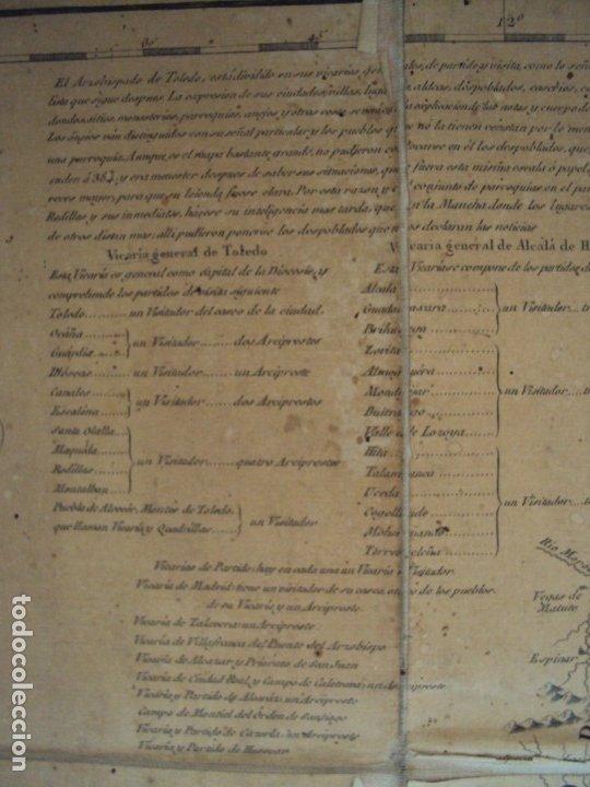 Arte: (PA-191008)Mapa en tela Arzobispado de Toledo Arqueologia escudo Cardenal Lorenzana Tomas Lopez 1792 - Foto 15 - 179189590