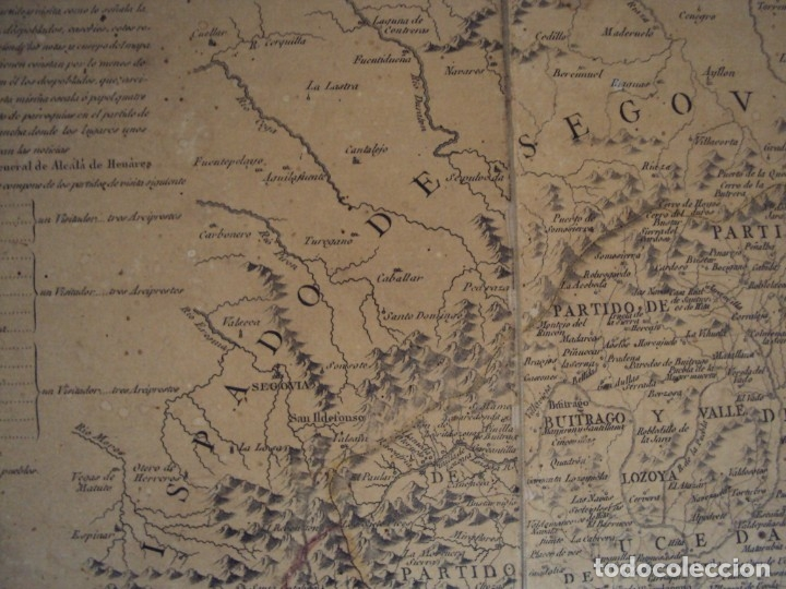 Arte: (PA-191008)Mapa en tela Arzobispado de Toledo Arqueologia escudo Cardenal Lorenzana Tomas Lopez 1792 - Foto 16 - 179189590