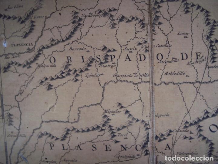 Arte: (PA-191008)Mapa en tela Arzobispado de Toledo Arqueologia escudo Cardenal Lorenzana Tomas Lopez 1792 - Foto 17 - 179189590