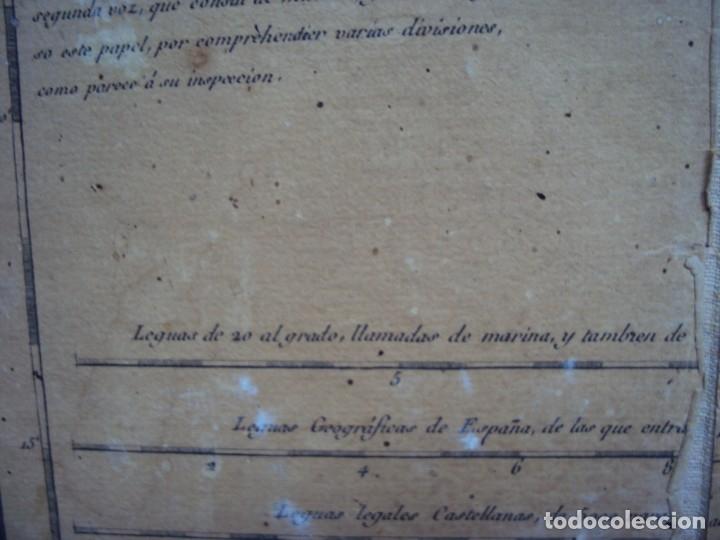 Arte: (PA-191008)Mapa en tela Arzobispado de Toledo Arqueologia escudo Cardenal Lorenzana Tomas Lopez 1792 - Foto 19 - 179189590