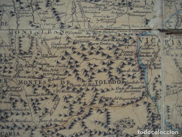 Arte: (PA-191008)Mapa en tela Arzobispado de Toledo Arqueologia escudo Cardenal Lorenzana Tomas Lopez 1792 - Foto 20 - 179189590