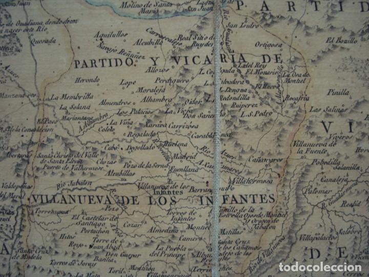Arte: (PA-191008)Mapa en tela Arzobispado de Toledo Arqueologia escudo Cardenal Lorenzana Tomas Lopez 1792 - Foto 22 - 179189590