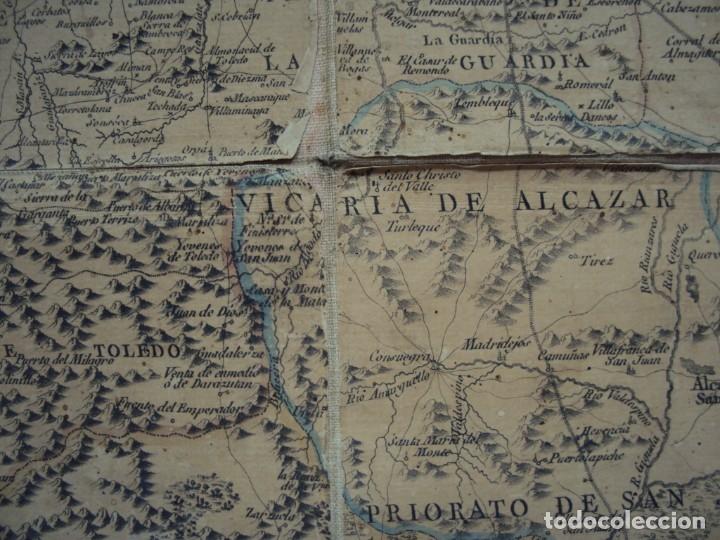 Arte: (PA-191008)Mapa en tela Arzobispado de Toledo Arqueologia escudo Cardenal Lorenzana Tomas Lopez 1792 - Foto 23 - 179189590