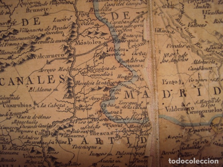 Arte: (PA-191008)Mapa en tela Arzobispado de Toledo Arqueologia escudo Cardenal Lorenzana Tomas Lopez 1792 - Foto 25 - 179189590