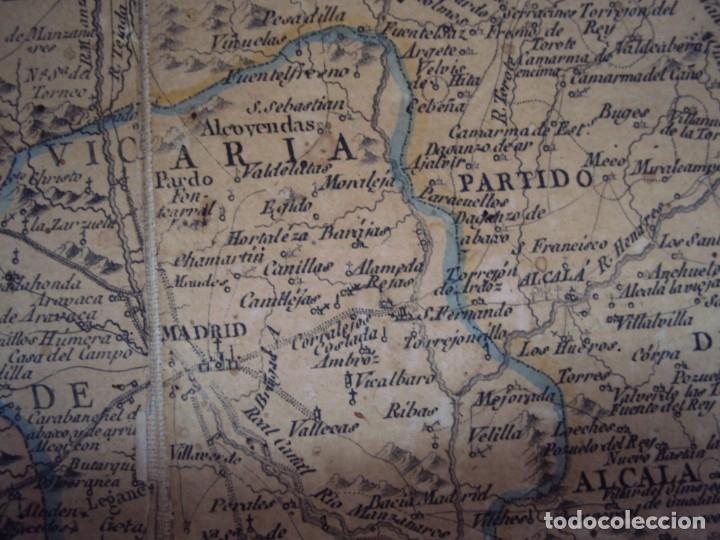 Arte: (PA-191008)Mapa en tela Arzobispado de Toledo Arqueologia escudo Cardenal Lorenzana Tomas Lopez 1792 - Foto 26 - 179189590