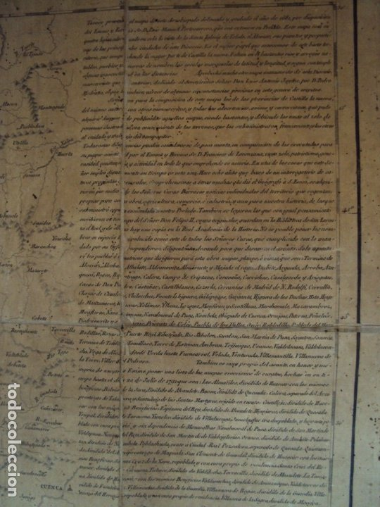 Arte: (PA-191008)Mapa en tela Arzobispado de Toledo Arqueologia escudo Cardenal Lorenzana Tomas Lopez 1792 - Foto 28 - 179189590
