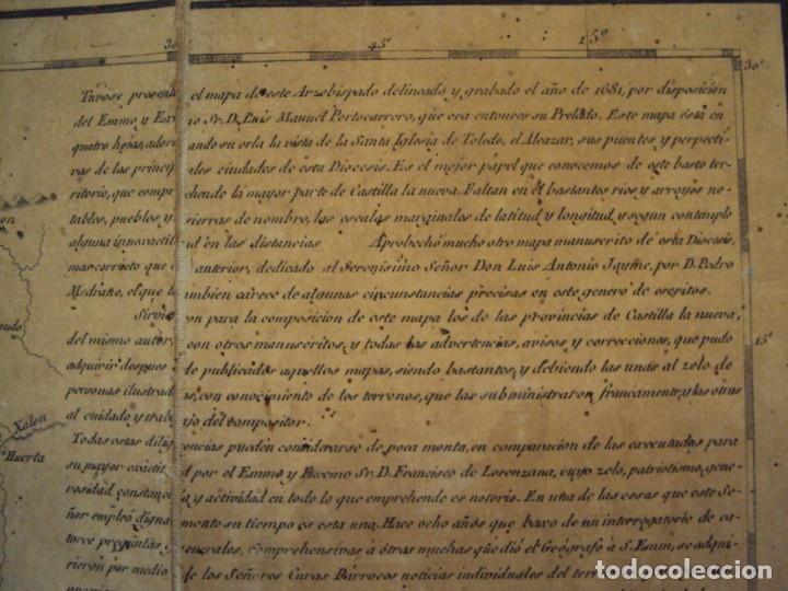 Arte: (PA-191008)Mapa en tela Arzobispado de Toledo Arqueologia escudo Cardenal Lorenzana Tomas Lopez 1792 - Foto 29 - 179189590