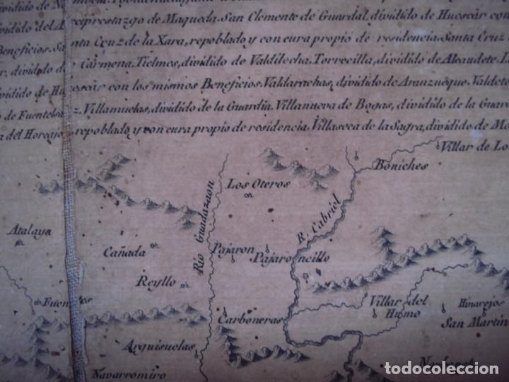 Arte: (PA-191008)Mapa en tela Arzobispado de Toledo Arqueologia escudo Cardenal Lorenzana Tomas Lopez 1792 - Foto 30 - 179189590