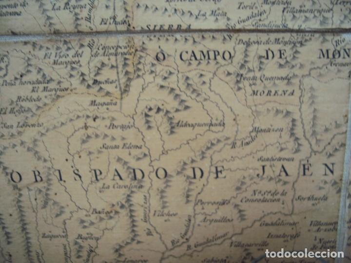 Arte: (PA-191008)Mapa en tela Arzobispado de Toledo Arqueologia escudo Cardenal Lorenzana Tomas Lopez 1792 - Foto 31 - 179189590