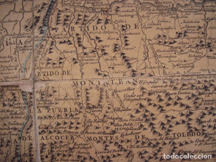 Arte: (PA-191008)Mapa en tela Arzobispado de Toledo Arqueologia escudo Cardenal Lorenzana Tomas Lopez 1792 - Foto 36 - 179189590