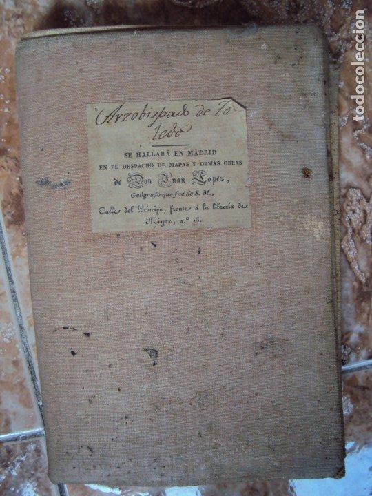 Arte: (PA-191008)Mapa en tela Arzobispado de Toledo Arqueologia escudo Cardenal Lorenzana Tomas Lopez 1792 - Foto 41 - 179189590
