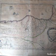 Arte: MAPA DE GUIPUZCOA Y VIZCAYA. 1640. JOAN BLAEU. 56X46 CENTÍMETROS. Lote 179220268