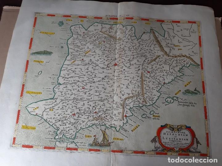 MAPA PTOLOMEO DE ESPAÑA. TABULAE GEOGRAPHICAE PTOLEMAEI. MERCATOR. SIGLO XVIII. 1704. 52X43 CM (Arte - Cartografía Antigua (hasta S. XIX))