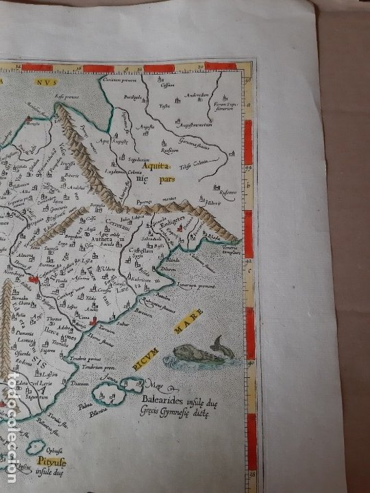 Arte: MAPA PTOLOMEO DE ESPAÑA. TABULAE GEOGRAPHICAE PTOLEMAEI. MERCATOR. SIGLO XVIII. 1704. 52X43 CM - Foto 7 - 179248926