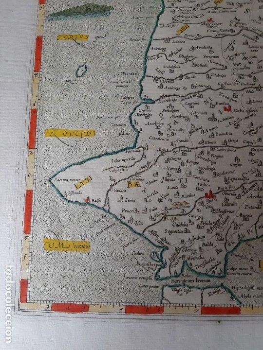 Arte: MAPA PTOLOMEO DE ESPAÑA. TABULAE GEOGRAPHICAE PTOLEMAEI. MERCATOR. SIGLO XVIII. 1704. 52X43 CM - Foto 8 - 179248926