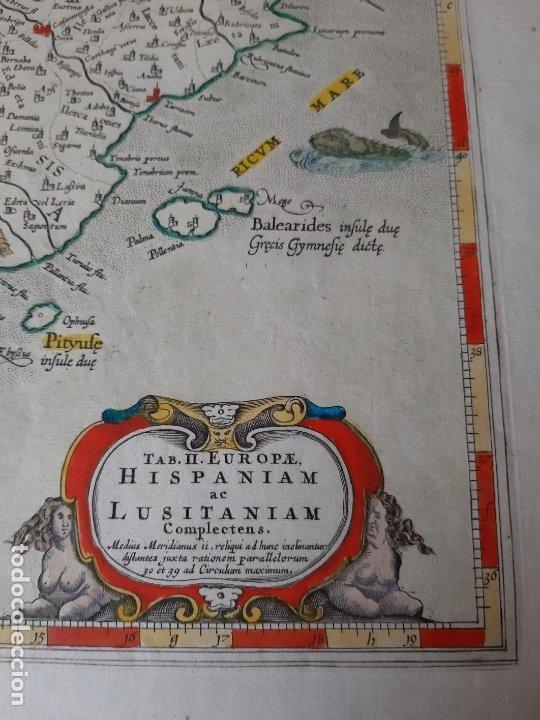 Arte: MAPA PTOLOMEO DE ESPAÑA. TABULAE GEOGRAPHICAE PTOLEMAEI. MERCATOR. SIGLO XVIII. 1704. 52X43 CM - Foto 10 - 179248926