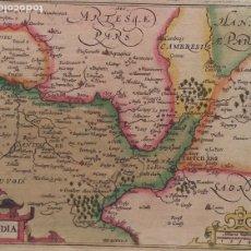Arte: HONDIUS -JANSSONIUS, MAPA DE PICARDÍA-CHAMPAGNE, COLOREADO, 1620. Lote 179379612