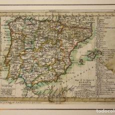 Arte: MAPA DE LOS REYNOS DE ESPAÑA Y PORTUGAL. DOMINIOS DE S.M. 1792. TOMAS LOPEZ, GEOGRAFO. Lote 180934872