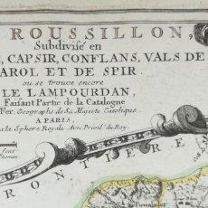 Arte: MAPA DEL ROSELLO - DE FER - AÑO 1706 - ROSES PUIGCERDA (GIRONA). Lote 180954288