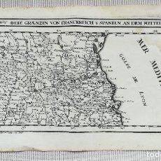 Art: MAPA DEL AMPURDAN-ROSELLO-ANDORRA-CERDANYA - BODENEHR- AÑO 1719. Lote 181133102