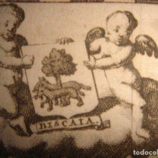 Arte: MAPA DE VIZCAYA, PAIS VASCO, 1715, ORIGINAL, LEIDEN, VAN DER AA, ESPLÉNDIDO ESTADO. Lote 181938660