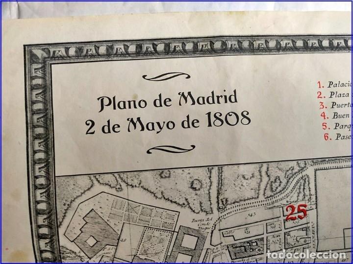 Arte: PLANO DE MADRID DEL AÑO 1808 DE MÁS DE MEDIO METRO. - Foto 3 - 182361798