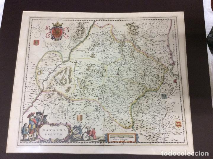 NAVARRA REGNUM AÑO 1636-MEDIDA 60X50 CM (Arte - Cartografía Antigua (hasta S. XIX))