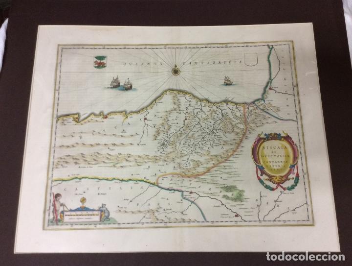 BISCAIA ET GUIPUSCOA,CANTABRIAE VETERIS PARS ,AÑO 1663-MEDIDA 63X53 CM (Arte - Cartografía Antigua (hasta S. XIX))