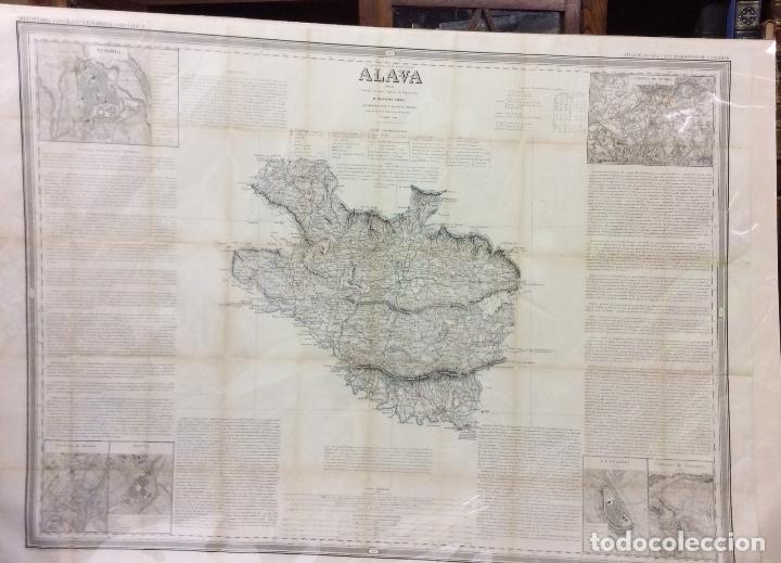 ALAVA ANTIGUO MAPA POR D.FRANCISCO COELLO ,MEDIDA 110X80 CM (Arte - Cartografía Antigua (hasta S. XIX))