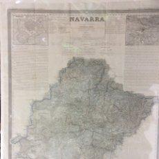 Arte: NAVARRA ANTIGUO MAPA POR D.FRANCISCO COELLO ,MEDIDA 110X80 CM. Lote 182381347