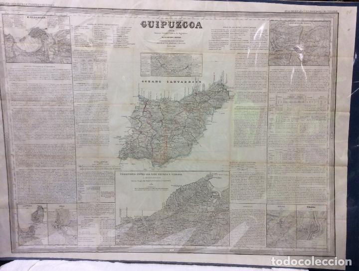 GUIPÚZCOA ANTIGUO MAPA POR D.FRANCISCO COELLO ,MEDIDA 110X74 CM (Arte - Cartografía Antigua (hasta S. XIX))