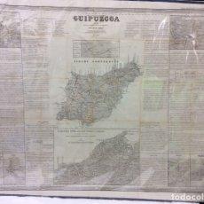 Arte: GUIPÚZCOA ANTIGUO MAPA POR D.FRANCISCO COELLO ,MEDIDA 110X74 CM. Lote 182381407