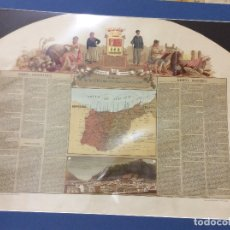 Arte: MAPA PROVINCIA GUIPUZCOA,DEDICADO AL SR.FERMÍN DE LA SALA Y COLLADO-MEDIDA 72X55 CM. Lote 182381676