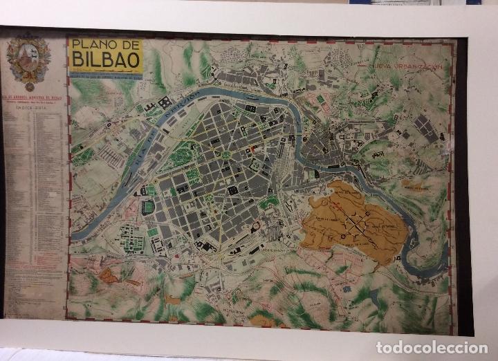 PLANO BILBAO -ED.CAM ,JUAN DÍAZ ABRISQUETA 1952-MEDIDA 100X65 CM (Arte - Cartografía Antigua (hasta S. XIX))