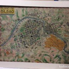 Arte: PLANO BILBAO -ED.CAM ,JUAN DÍAZ ABRISQUETA 1952-MEDIDA 100X65 CM. Lote 182382401