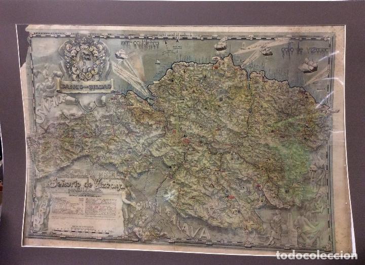 PLANO DE BILBAO -SEÑORIO DE VIZCAYA POR G.H.ONATIVIA-94X62CM (Arte - Cartografía Antigua (hasta S. XIX))
