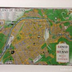 Arte: PLANO DE BILBAO -BANCO DE BILBAO POR A.AMANN 1945-MEDIDA 75X55 CM. Lote 182383093