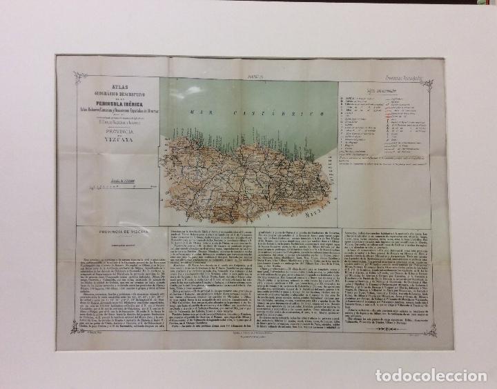 ATLAS PENÍNSULA IBÉRICA-VIZCAYA -MEDIDA 50X37 CM (Arte - Cartografía Antigua (hasta S. XIX))