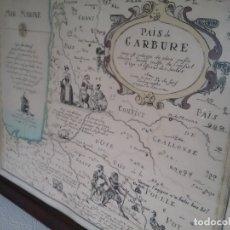 Arte: ANTIGUO GRABADO DE MAPA PAIS DE GARBURE FRANCIA. Lote 182710765